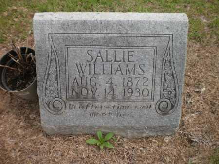 WILLIAMS, SALLIE - Ashley County, Arkansas | SALLIE WILLIAMS - Arkansas Gravestone Photos