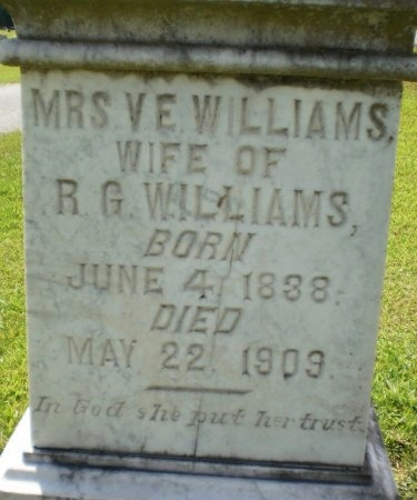 WILLIAMS, V E  - Ashley County, Arkansas | V E  WILLIAMS - Arkansas Gravestone Photos