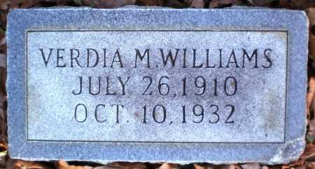 WILLIAMS, VERDIA M - Ashley County, Arkansas   VERDIA M WILLIAMS - Arkansas Gravestone Photos