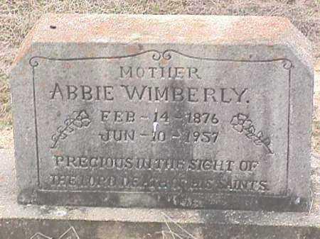 WIMBERLY, ABBIE - Ashley County, Arkansas | ABBIE WIMBERLY - Arkansas Gravestone Photos