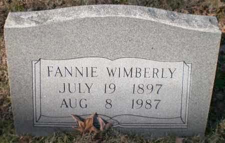 WIMBERLY, FANNIE - Ashley County, Arkansas   FANNIE WIMBERLY - Arkansas Gravestone Photos