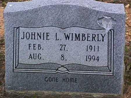 WIMBERLY, JOHNIE L - Ashley County, Arkansas | JOHNIE L WIMBERLY - Arkansas Gravestone Photos