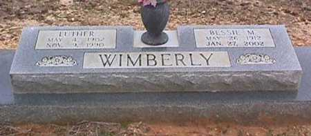 WIMBERLY, BESSIE M - Ashley County, Arkansas | BESSIE M WIMBERLY - Arkansas Gravestone Photos