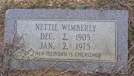 WIMBERLY, NETTIE - Ashley County, Arkansas | NETTIE WIMBERLY - Arkansas Gravestone Photos