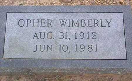 WIMBERLY, OPHER - Ashley County, Arkansas   OPHER WIMBERLY - Arkansas Gravestone Photos
