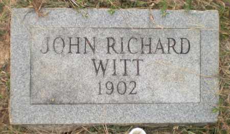 WITT, JOHN RICHARD - Ashley County, Arkansas | JOHN RICHARD WITT - Arkansas Gravestone Photos