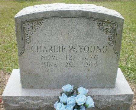 YOUNG, CHARLIE W. - Ashley County, Arkansas   CHARLIE W. YOUNG - Arkansas Gravestone Photos