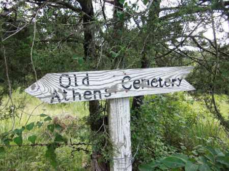 *, ATHENS CEMETERY ARROW SIGN - Baxter County, Arkansas   ATHENS CEMETERY ARROW SIGN * - Arkansas Gravestone Photos