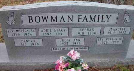 BOWMAN, JR, LEVI MORTON - Baxter County, Arkansas | LEVI MORTON BOWMAN, JR - Arkansas Gravestone Photos