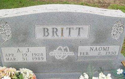 LANTZ BRITT, NAOMI FRANCES - Baxter County, Arkansas   NAOMI FRANCES LANTZ BRITT - Arkansas Gravestone Photos