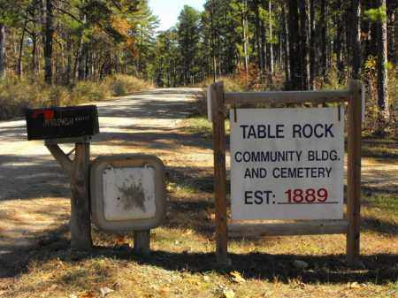 *, TABLE ROCK CEMETERY SIGN - Baxter County, Arkansas   TABLE ROCK CEMETERY SIGN * - Arkansas Gravestone Photos
