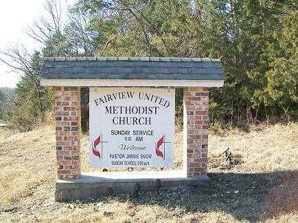 *, FAIRVIEW CEMETERY CHURCH SIGN - Baxter County, Arkansas   FAIRVIEW CEMETERY CHURCH SIGN * - Arkansas Gravestone Photos