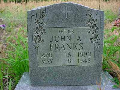 FRANKS, JOHN A. - Baxter County, Arkansas   JOHN A. FRANKS - Arkansas Gravestone Photos