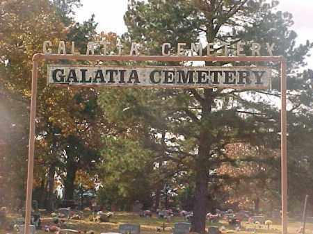 *, GALATIA CEMETERY SIGN - Baxter County, Arkansas   GALATIA CEMETERY SIGN * - Arkansas Gravestone Photos