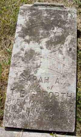 GOFORTH, SARAH A (CLOSE UP) - Baxter County, Arkansas | SARAH A (CLOSE UP) GOFORTH - Arkansas Gravestone Photos