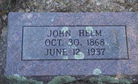 HELM, JOHN - Baxter County, Arkansas | JOHN HELM - Arkansas Gravestone Photos
