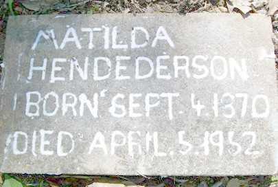 "HENDERSON, MATILDA JANE ""TILDA"" - Baxter County, Arkansas   MATILDA JANE ""TILDA"" HENDERSON - Arkansas Gravestone Photos"