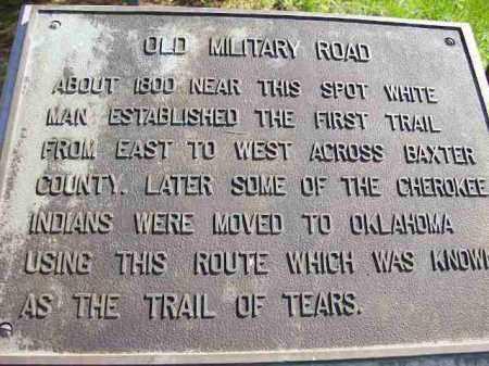 *, HISTORICAL MARKER - Baxter County, Arkansas   HISTORICAL MARKER * - Arkansas Gravestone Photos