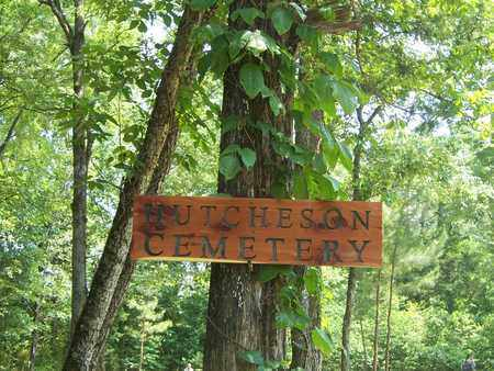 *, HUTCHESON CEMETERY NEW SIGN. - Baxter County, Arkansas   HUTCHESON CEMETERY NEW SIGN. * - Arkansas Gravestone Photos