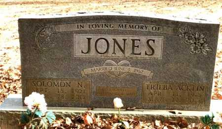 JONES, SOLOMON NATHANIEL - Baxter County, Arkansas | SOLOMON NATHANIEL JONES - Arkansas Gravestone Photos
