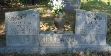 KIRKLAND, SALLIE M. - Baxter County, Arkansas | SALLIE M. KIRKLAND - Arkansas Gravestone Photos