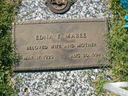 MABEE, EDNA F. - Baxter County, Arkansas | EDNA F. MABEE - Arkansas Gravestone Photos