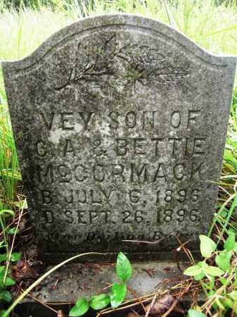 MCCORMACK, VEY - Baxter County, Arkansas | VEY MCCORMACK - Arkansas Gravestone Photos