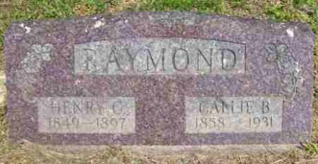 RAYMOND, CALLIE B - Baxter County, Arkansas | CALLIE B RAYMOND - Arkansas Gravestone Photos