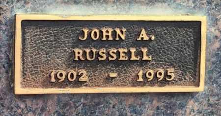 RUSSELL, JOHN A - Baxter County, Arkansas   JOHN A RUSSELL - Arkansas Gravestone Photos