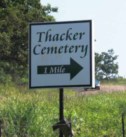 *, THACKER CEMETERY SIGN - Baxter County, Arkansas   THACKER CEMETERY SIGN * - Arkansas Gravestone Photos
