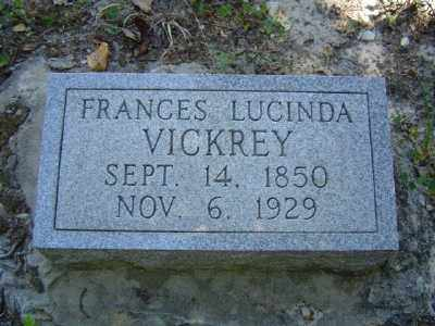 VICKREY, FRANCES LUCINDA - Baxter County, Arkansas   FRANCES LUCINDA VICKREY - Arkansas Gravestone Photos