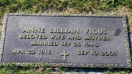 VIGUS, ANNE LILLIAN - Baxter County, Arkansas | ANNE LILLIAN VIGUS - Arkansas Gravestone Photos