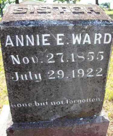 WARD, ANNIE E - Baxter County, Arkansas   ANNIE E WARD - Arkansas Gravestone Photos