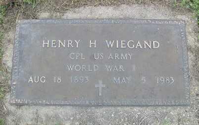 WIEGAND (VETERAN WWI), HENRY HERMAN - Baxter County, Arkansas   HENRY HERMAN WIEGAND (VETERAN WWI) - Arkansas Gravestone Photos