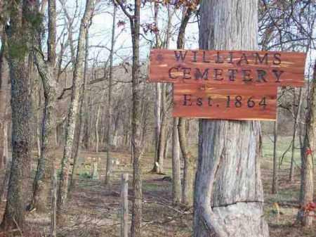 *, WILLIAMS CEMETERY SIGN - Baxter County, Arkansas   WILLIAMS CEMETERY SIGN * - Arkansas Gravestone Photos