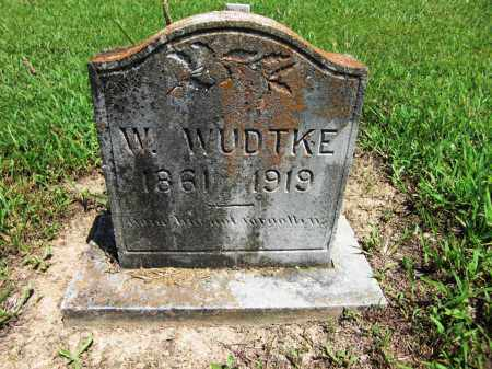 WUDTKE, W. - Baxter County, Arkansas | W. WUDTKE - Arkansas Gravestone Photos