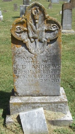 ANDREWS, MAY E - Benton County, Arkansas | MAY E ANDREWS - Arkansas Gravestone Photos