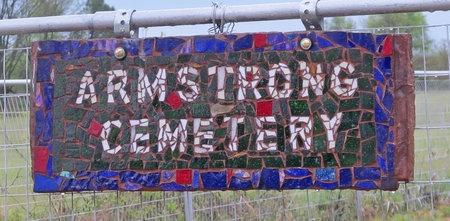 *ARMSTRONG CEMETERY SIGN,  - Benton County, Arkansas |  *ARMSTRONG CEMETERY SIGN - Arkansas Gravestone Photos