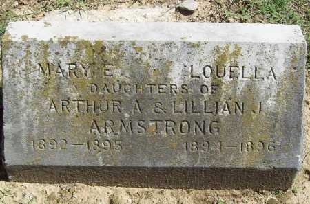 ARMSTRONG, MARY ELIZABETH - Benton County, Arkansas | MARY ELIZABETH ARMSTRONG - Arkansas Gravestone Photos