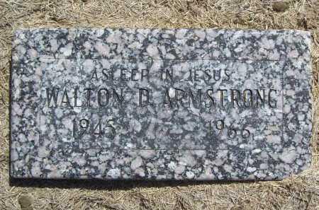 ARMSTRONG, WALTON D. - Benton County, Arkansas | WALTON D. ARMSTRONG - Arkansas Gravestone Photos