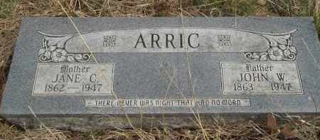 ARRIC, JANE C. - Benton County, Arkansas | JANE C. ARRIC - Arkansas Gravestone Photos