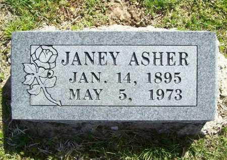 ASHER, JANEY - Benton County, Arkansas | JANEY ASHER - Arkansas Gravestone Photos