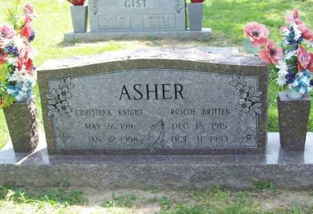 ASHER, CHRISTENA - Benton County, Arkansas | CHRISTENA ASHER - Arkansas Gravestone Photos