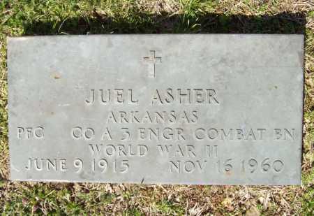 ASHER (VETERAN WWII), JUEL - Benton County, Arkansas | JUEL ASHER (VETERAN WWII) - Arkansas Gravestone Photos