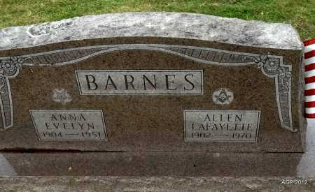BARNES, ANNA EVELYN - Benton County, Arkansas | ANNA EVELYN BARNES - Arkansas Gravestone Photos