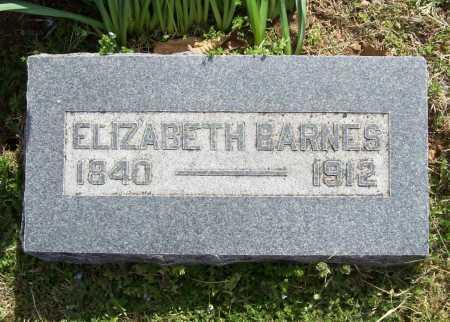 BARNES, ELIZABETH - Benton County, Arkansas   ELIZABETH BARNES - Arkansas Gravestone Photos