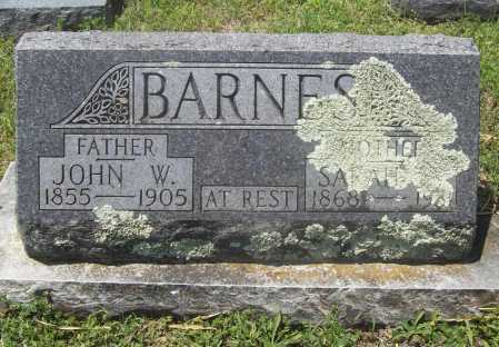BARNES, JOHN W. - Benton County, Arkansas | JOHN W. BARNES - Arkansas Gravestone Photos