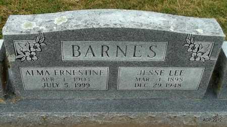 BARNES, JESSE LEE - Benton County, Arkansas | JESSE LEE BARNES - Arkansas Gravestone Photos
