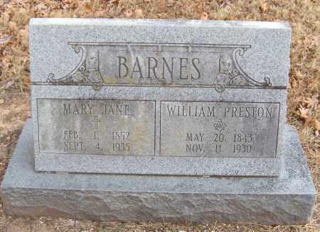 BARNES, WILLIAM PRESTON - Benton County, Arkansas | WILLIAM PRESTON BARNES - Arkansas Gravestone Photos