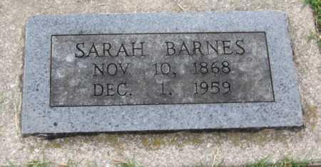 BARNES, SARAH JANE - Benton County, Arkansas | SARAH JANE BARNES - Arkansas Gravestone Photos